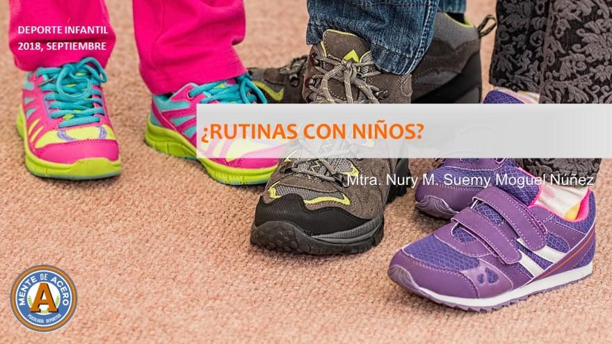 rutinas de ejercicios con niños